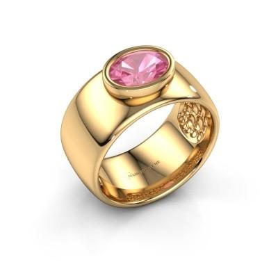 Ring Anouschka 585 gold pink sapphire 8x6 mm