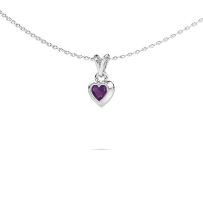 Picture of Pendant Charlotte Heart 925 silver amethyst 4 mm