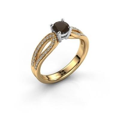 Verlovingsring Antonia 2 585 goud rookkwarts 5 mm