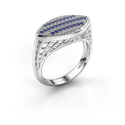 Ring Mireille 925 zilver saffier 1.1 mm