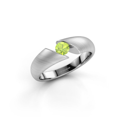 Picture of Engagement ring Hojalien 1 950 platinum peridot 4 mm
