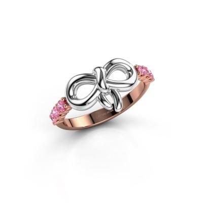 Ring Olympia 585 rosé goud roze saffier 2.2 mm