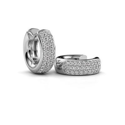 Picture of Hoop earrings Lana 925 silver zirconia 1.1 mm