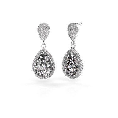 Oorhangers Tilly per 2 950 platina diamant 6.690 crt