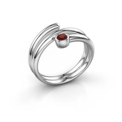 Ring Jenna 925 Silber Granat 3 mm