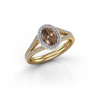 Engagement ring Rachele 2 585 gold brown diamond 1.174 crt