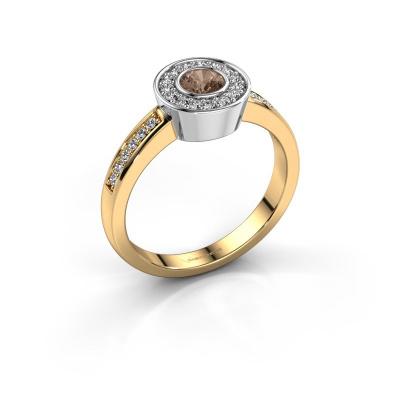Ring Adriana 2 585 goud bruine diamant 0.453 crt