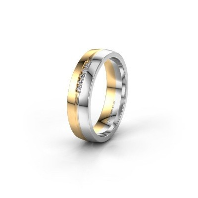 Trouwring WH0132L25B 585 goud diamant ±5x2 mm