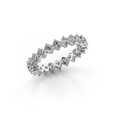 Picture of Stackable ring Janie 2.7mm 585 white gold diamond 1.76 crt