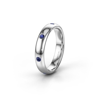 Wedding ring WH0105L34BP 950 platinum sapphire ±0.16x0.08 in