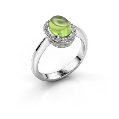 Ring Kristian 950 platinum peridot 8x6 mm