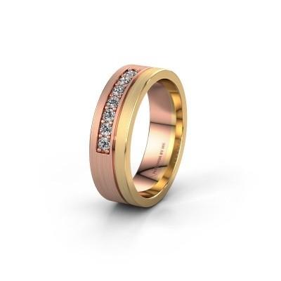Trouwring WH0312L16AM 585 rosé goud lab-grown diamant ±6x1.7 mm