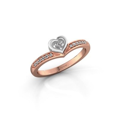 Ring Mimi 585 rosé goud lab-grown diamant 0.118 crt