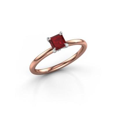 Foto van Verlovingsring Crystal ASS 1 585 rosé goud robijn 5 mm