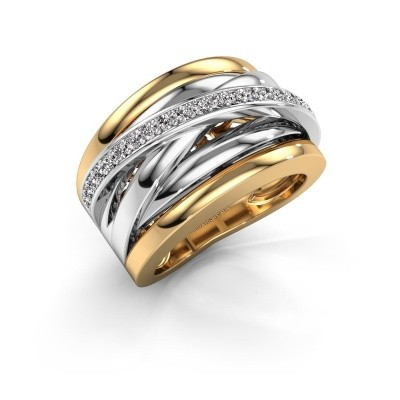 Picture of Ring Clair 1 585 gold zirconia 1.5 mm