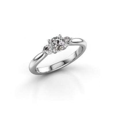 Foto van Verlovingsring Lieselot RND 950 platina diamant 0.56 crt
