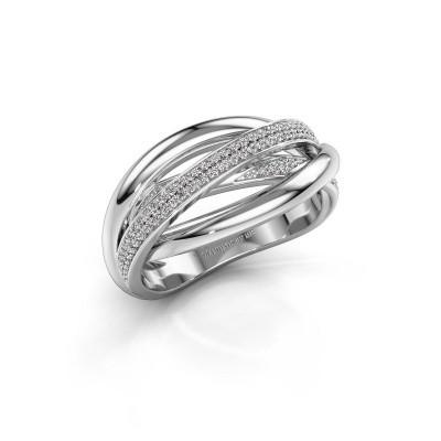 Foto van Ring Candice 585 witgoud diamant 0.24 crt