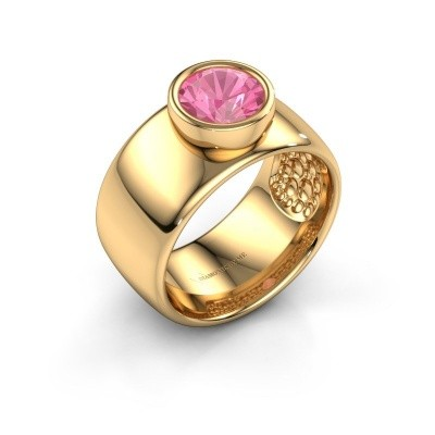 Ring Klarinda 585 Gold Pink Saphir 7 mm