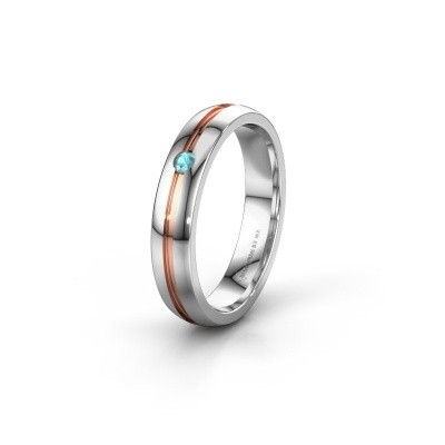 Picture of Wedding ring WH0424L24A 585 white gold blue topaz ±4x1.7 mm