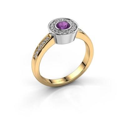 Ring Adriana 2 585 Gold Amethyst 4 mm