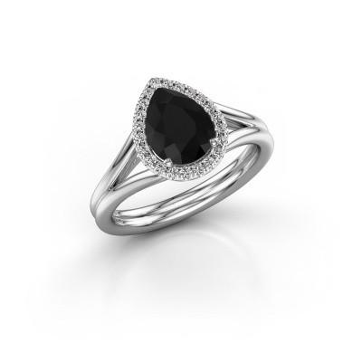 Foto van Verlovingsring Elenore 950 platina zwarte diamant 1.287 crt