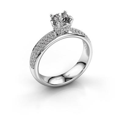 Aanzoeksring Ecrin 950 platina diamant 0.989 crt
