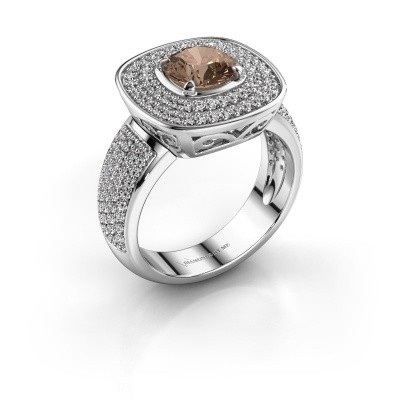 Ring Eliana 925 zilver bruine diamant 1.54 crt