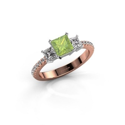 Engagement ring Dorla 585 rose gold peridot 5 mm