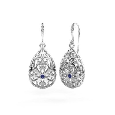 Picture of Drop earrings Idalia 2 585 white gold sapphire 2 mm