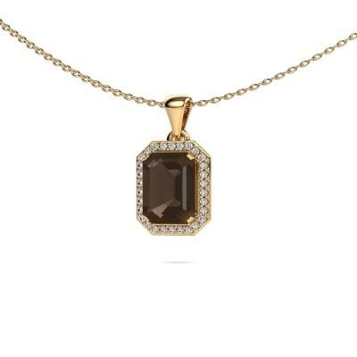 Ketting Dodie 375 goud rookkwarts 9x7 mm