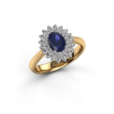 Engagement ring Alina 1 585 gold sapphire 7x5 mm