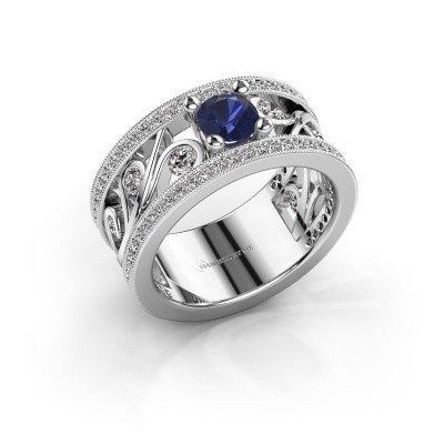 Picture of Ring Sanne 585 white gold sapphire 5 mm