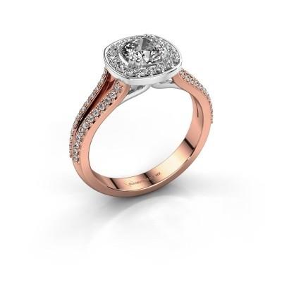 Engagement ring Carolina 2 585 rose gold zirconia 5 mm