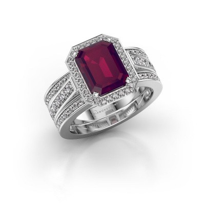 Picture of Ring Dodie 3 585 white gold rhodolite 9x7 mm