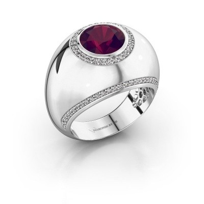Picture of Ring Roxann 925 silver rhodolite 8 mm