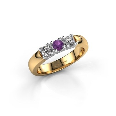 Engagement ring Rianne 3 585 gold amethyst 3.4 mm