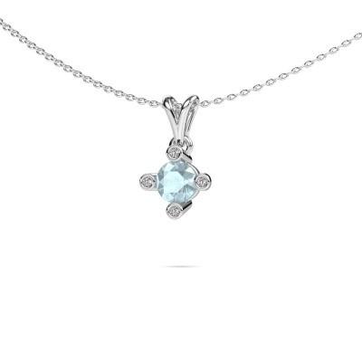 Picture of Pendant Cornelia Round 950 platinum aquamarine 5.5 mm