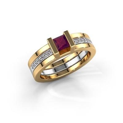 Foto van Ring Desire 585 goud rhodoliet 4 mm