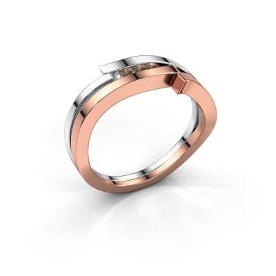 Ring Amelie 585 Roségold Braun Diamant 0.053 crt