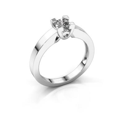 Verlovingsring Nina 1 925 zilver diamant 0.20 crt