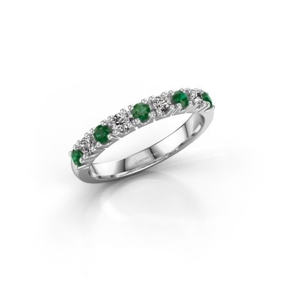 Engagement ring Rianne 9 925 silver emerald 2.4 mm