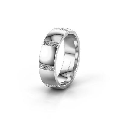 Wedding ring WH2124L26B 585 white gold diamond ±6x2 mm