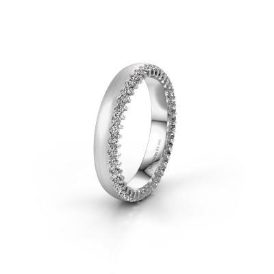 Wedding ring WH2138L24B 950 platinum zirconia ±4x2 mm