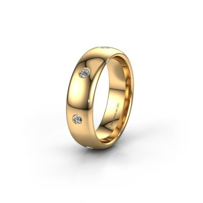 Wedding ring WH0105L36BP 375 gold zirconia ±0.24x0.08 in