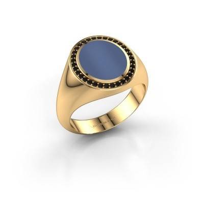 Signet ring Adam 2 375 gold blue sardonyx 12x10 mm
