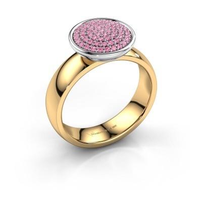 Foto van Ring Tilda 585 goud roze saffier 1 mm