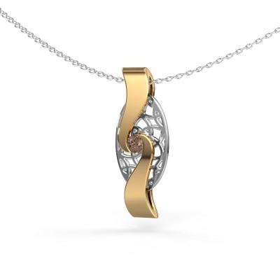 Foto van Hanger Darleen 585 goud bruine diamant 0.10 crt