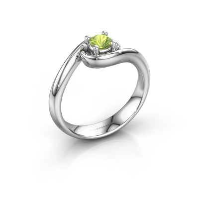 Ring Linn 925 silver peridot 4 mm