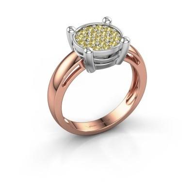 Ring Dina 585 Roségold Gelb Saphir 1.6 mm
