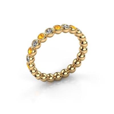 Foto van Aanschuifring Maurise 375 goud diamant 0.330 crt